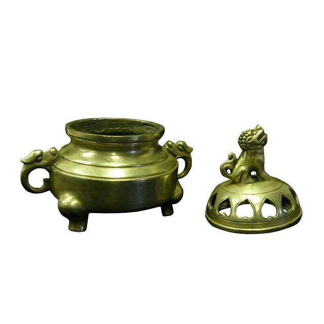 Chinese Silver Color Round Incense Burner - Image 4 of 5