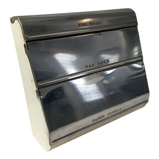 Vintage Wax Paper/Paper Towel/Foil Dispenser For Sale