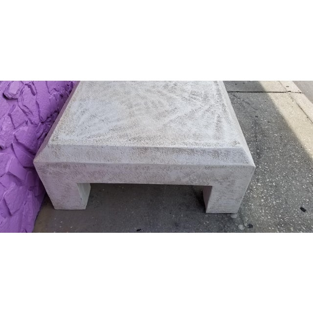 White Vintage Postmodern Plaster Coffee Table For Sale - Image 8 of 13