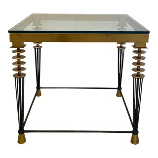 1980s Hollywood Regency Larry Laslo for Directional Side Table For Sale
