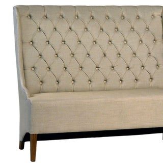 Tufted Linen Dining Bench Preview