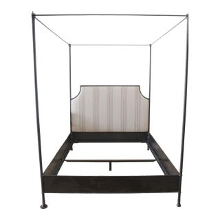 Modern Wrought Iron Solid Queen Size Canopy Bed For Sale