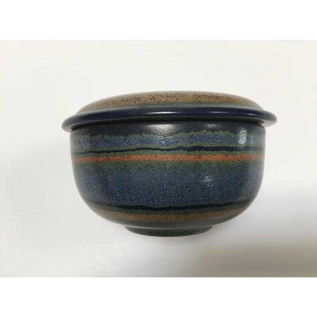 Hand-Painted Lidded German Ceramic Bowl by Kmk For Sale In Los Angeles - Image 6 of 7