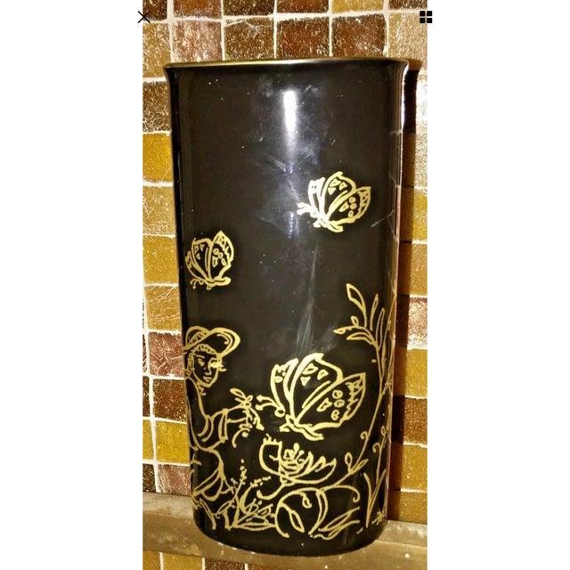 "Edna Hibel Rosenthal ""Festival Annual"" Golden Vase For Sale - Image 12 of 13"