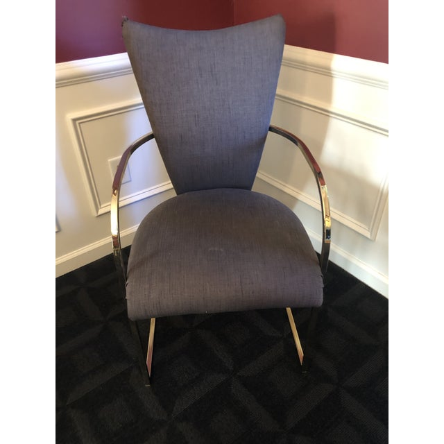 Milo Baughman Style Design Institute America Dia Modern Brass Dining Chairs - Set of 6 For Sale In Phoenix - Image 6 of 13