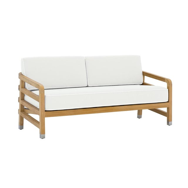 "Contemporary Summit Furniture Linley Small Sofa_61"" For Sale - Image 3 of 3"
