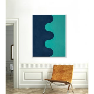 """Large """"Hairpin Serpentine in Blues"""" Print by Stephanie Henderson, 41"""" X 51"""" Preview"""