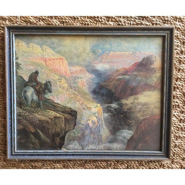 Vintage Framed Grand Canyon Western Print - Image 2 of 6