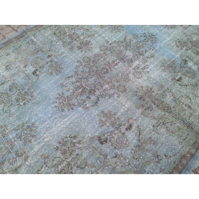 Turkish Overdyed Patchwork Rug - 6′4″ × 9′9″ - Image 3 of 6