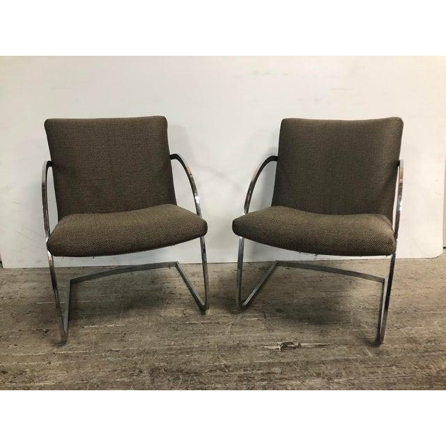 Milo Baughman for Thayer Coggin 1960s Original Milo Baughman for Thayer Coggin Lounge Chairs - a Pair For Sale - Image 4 of 9