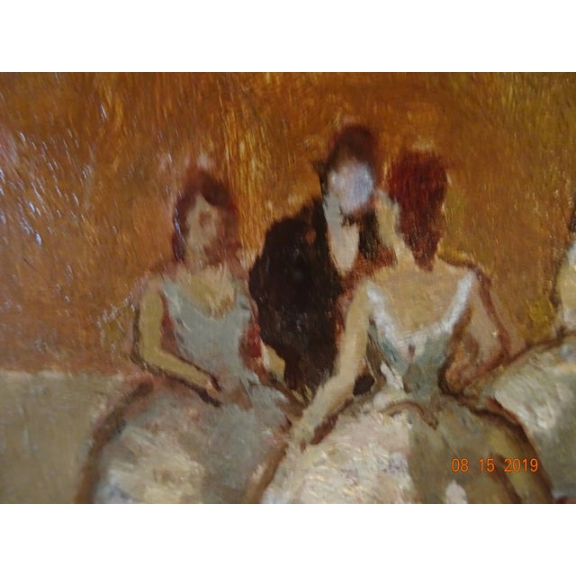 Black Oil on Board by Marcel Cosson For Sale - Image 8 of 13