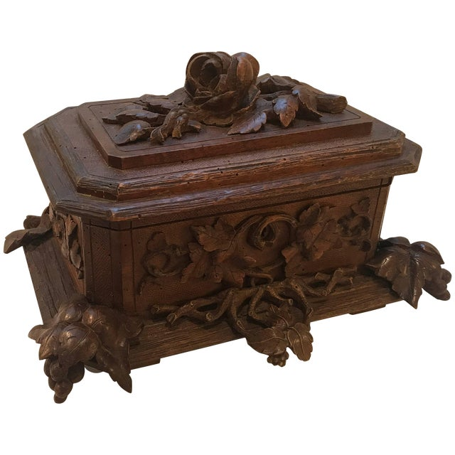 Black Forest Hinged Box For Sale