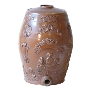 19th C. English Stoneware Gin Keg For Sale