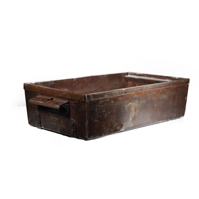 Early 20th C. Steel Drawers - Set of 4 For Sale - Image 4 of 5