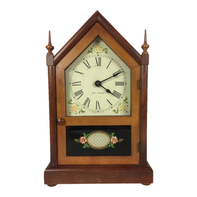 Vintage Seth Thomas Gothic Cottage Steeple Clock For Sale