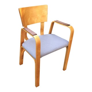 1950s Vintage Thonet Bent Plywood Armchair For Sale