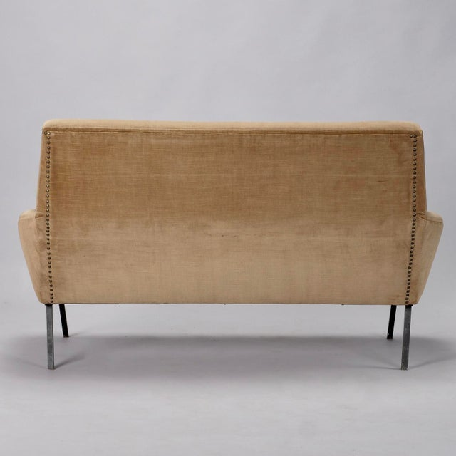 Mid-Century Italian Settee in the style of Marco Zanuso For Sale - Image 5 of 8