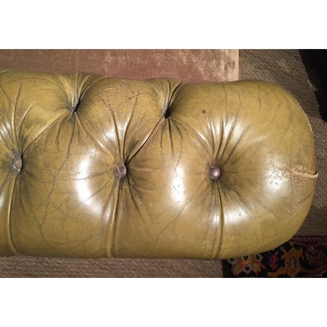 Antique English Leather Chesterfield Loveseat - Image 8 of 8