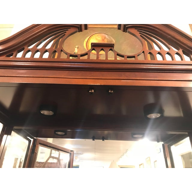 Traditional Mirror Back China Cabinet For Sale In New York - Image 6 of 9