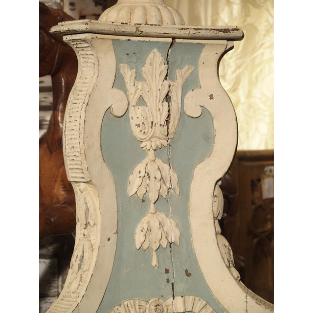 White Large and Unique 18th Century Painted Wooden Jardiniere From Bruges For Sale - Image 8 of 13