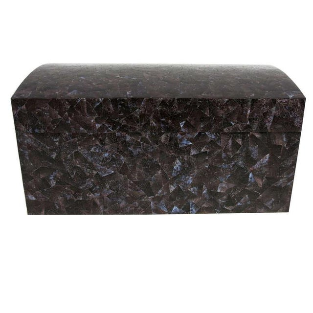 Modern Tesselated Shell Clad Trunk by Maitland Smith For Sale - Image 3 of 3