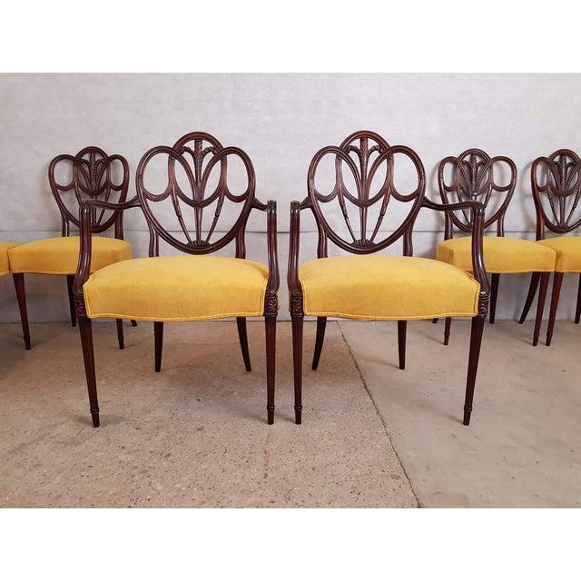 Edwardian (1901-1910) Beautiful Set Of 8 Hepplewhite Design Antique Mahogany Dining Chairs Antique Furniture