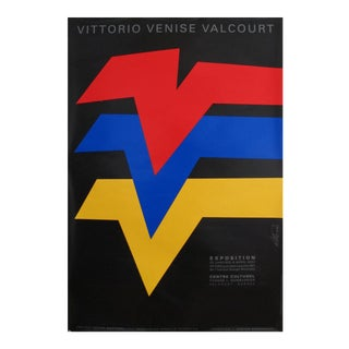 2001 Vittorio Exhibition Poster, Vittorio Venise Valcourt