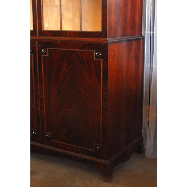 Historical George III Mahogany Display Cabinet Bookcase For Sale - Image 9 of 10