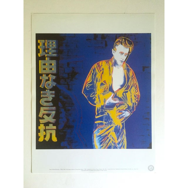 "Andy Warhol Estate Rare Vintage 1990 Collector's Lithograph Print "" Rebel Without a Cause - James Dean "" 1985 For Sale - Image 10 of 11"