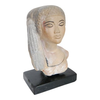 1970s Vintage Egyptian Cleopatra Bust Statue For Sale