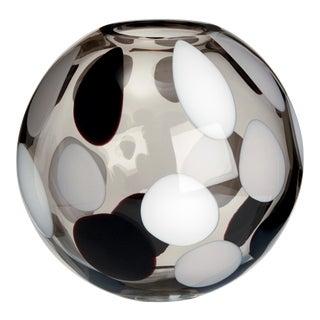 Carlo Moretti Sfera Vase in White, Grey and Black For Sale