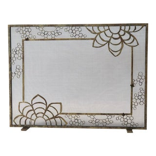 Claire Crowe Collection Honey Fireplace Screen For Sale