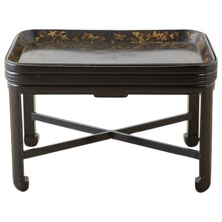 English Chinoiserie Lacquered Tray Table by Henry Clay For Sale