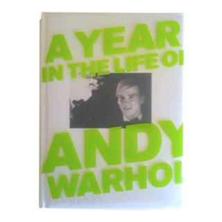 """ a Year in the Life of Andy Warhol "" Vintage 1st Edition Hardcover Photography Art Book For Sale"