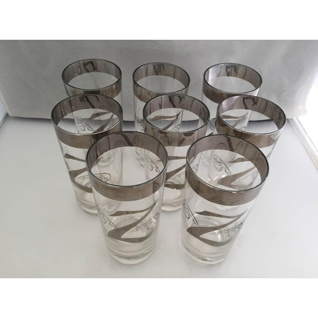 """Mid-Century Modern Mid-Century """"Dorothy Thorpe"""" Z High Ball Glasses - Set of 8 For Sale - Image 3 of 6"""