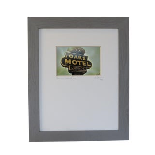 Oaks Motel, Louisiana 1959. Custom Framed and Matted Photography by C. Damien Fox For Sale