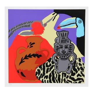 Hunt Slonem Serigraph - Purple Spell For Sale