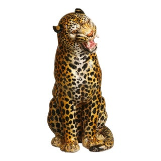 Terra Cotta Cheetah Figurine