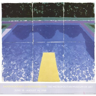 "David Hockney ""Day Pool With Three Blues"" 2000 Poster"