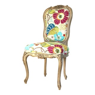 Boho Chic Floral Chair For Sale