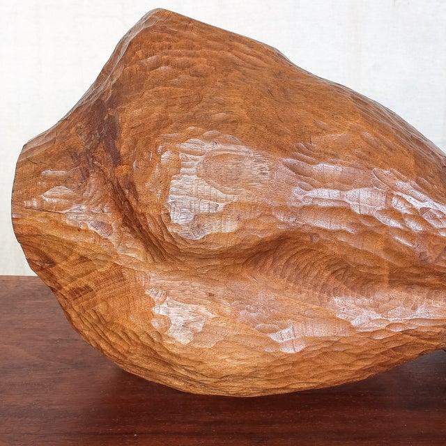 Mid-Century Modern Carved Nude Torso Sculpture - Image 9 of 10