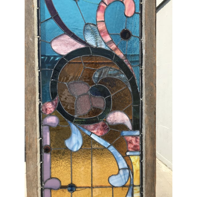 Antique Stained Glass Window, Circa 1900s For Sale - Image 4 of 12