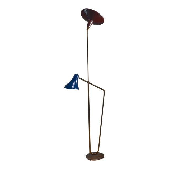 Guiseppe Ostuni Floor Lamp With 2 Shades for O-Luce, Italy For Sale