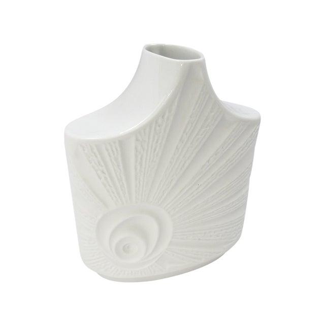 Vintage Mid-Century Bisque Porcelain Vase For Sale