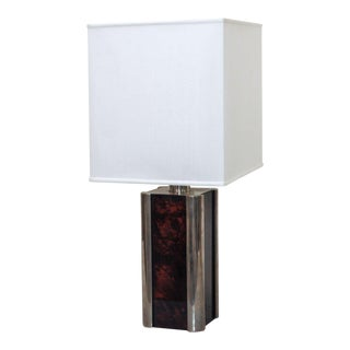 "Acrylic ""Burl"" Table Lamp For Sale"