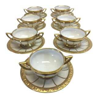 Rosenthal Soup Cups and Saucers Set of 7 For Sale