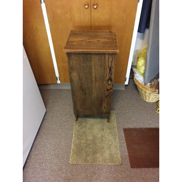 Vintage Oak Record Cabinet For Sale - Image 4 of 6