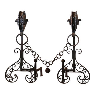Arts and Crafts Gothic Andirons For Sale