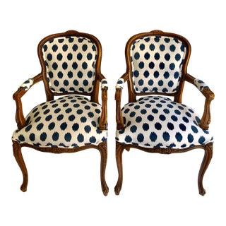 1990s Vintage Château d'Ax Italian Chairs - A Pair