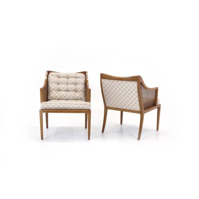 John Widdicomb Pair of T. H. Robsjohn Gibbings for Widdicomb Arm Chairs For Sale - Image 4 of 10